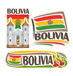 logo bolivia vector image vector image