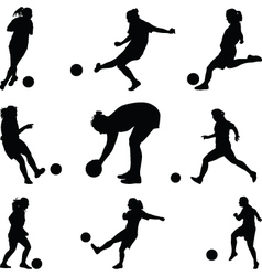woman soccer player vector image