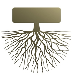 Concept with tree root vector image vector image
