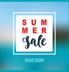 summer sale mobile banner template vector image