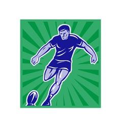 vintage rugby background vector image