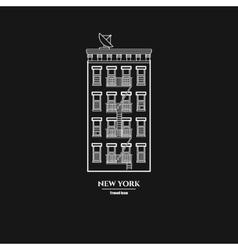 Brooklyn Buildihg Icon vector image vector image
