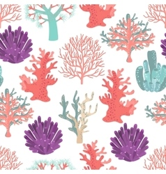 Corals seamless pattern vector image vector image