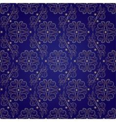 Floral vintage seamless pattern on violet vector image