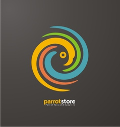 Parrot abstract logo design template vector image vector image