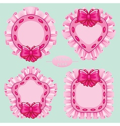 pillow pink set vector image vector image