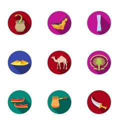 Arab Emirates set icons in flat style Big vector image vector image