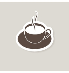 Cup of coffee for bar or cafe vector image vector image