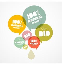 100 BIO - Natural Transparent Bubbles vector