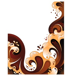 Abstract chocolate and milk background vector