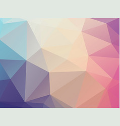 abstract soft pastel triangles background vector image