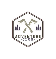 adventure badges logo design vector image