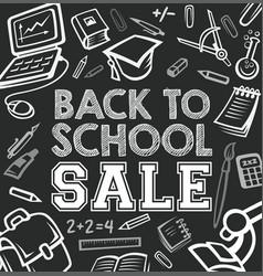 Back to school blackboard sale poster vector