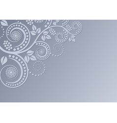 background with floral decoration vector image