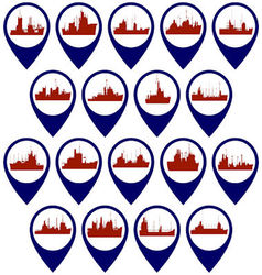 Badges with support vessels vector
