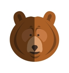 bear cartoon icon vector image
