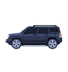 Black jeep car government or presidential off vector