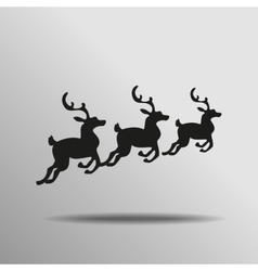 black silhouette deer with great antler Icon vector image