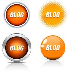 Blog buttons vector
