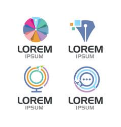Blogger logo set vector