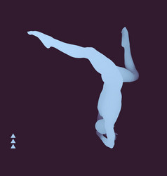 Breakdance or hiphop silhouette of a dancer vector