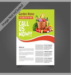Business flayer template for vegetable garden vector