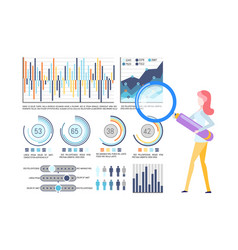 business infographic statistical graphic charts vector image