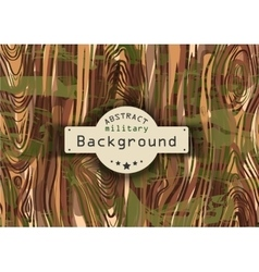 Camouflage military pattern background with wood vector image