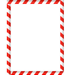 Candy cane caramels as border frame white vector
