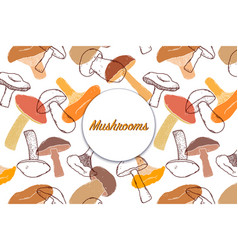 Card with mushrooms vector