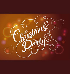 Christmas party banner vector