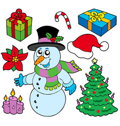 Collection of christmas images vector