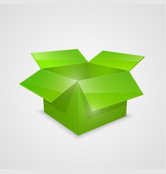 Color open box green vector