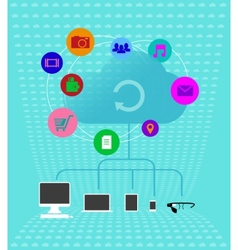Colored cloud technologies - Infographics vector