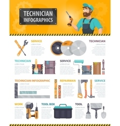 Colorful Repair Service Infographics vector image
