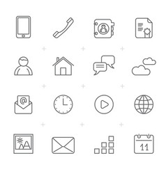 communication connection and mobile phone icons vector image