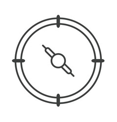 Compass rose navigation travel orienteering vector