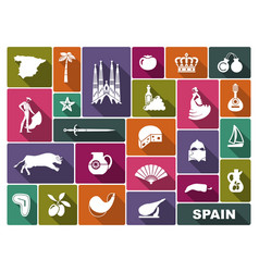Culture and sights of spain vector
