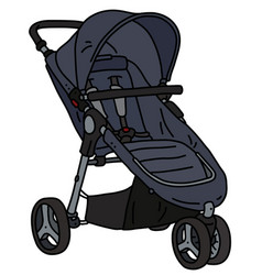 Dark sport stroller vector