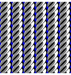 Design seamless vertical ellipse pattern vector image