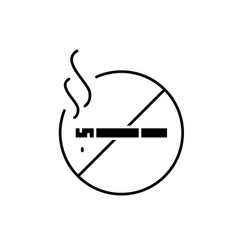 do not smoke black icon sign on isolated vector image