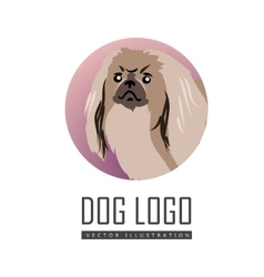 Dog Logo in Flat Style Design vector