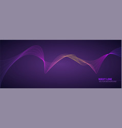 Dynamic flowing waves twisted lines isolated on vector