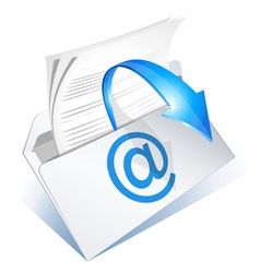 email to read vector image