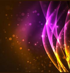 energy lines glowing waves in the dark vector image
