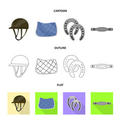 equipment and riding logo vector image