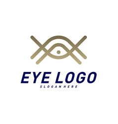 eye logo design concept eye logo template icon vector image
