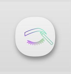Eyebrows shaping app icon vector