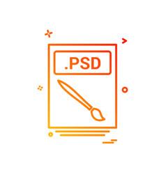 File files psd icon design vector