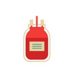 flat blood donation transfusion bag vector image